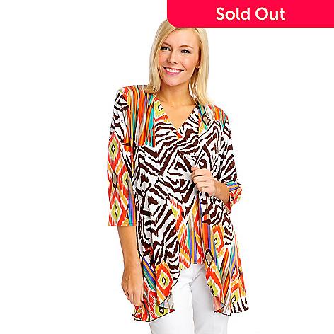 712-893 - Kate & Mallory® Stretch Knit 3/4 Sleeved Open Cardigan & Tank Set