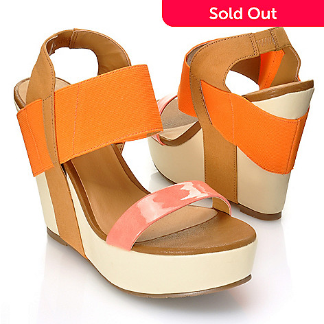 712-933 - Matisse ''Barbary'' Color Block Wedge Sandals