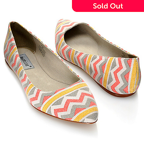 712-934 - Matisse ''Kiley'' Zigzag Pattern Pointed Toe Flats
