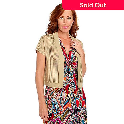712-958 - Kate & Mallory® Open Knit Raglan Sleeved Open Front Shrug