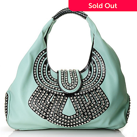 712-982 - Bag Chique Rhinestone Embellished Double Handle Hobo Handbag