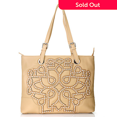 712-983 - Bag Chique Rhinestone Studded Double Handle Tote Bag