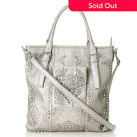 712-986 - Bag Chique Rhinestone Embellished Tote Bag w/ Shoulder Strap