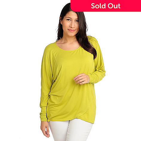 713-079 - Kate & Mallory® Stretch Knit Dolman Sleeved Tulip Hemmed Top