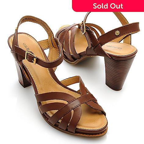 713-255 - Bass Footwear Leather ''Liana'' Quarter Strap Dress Sandals