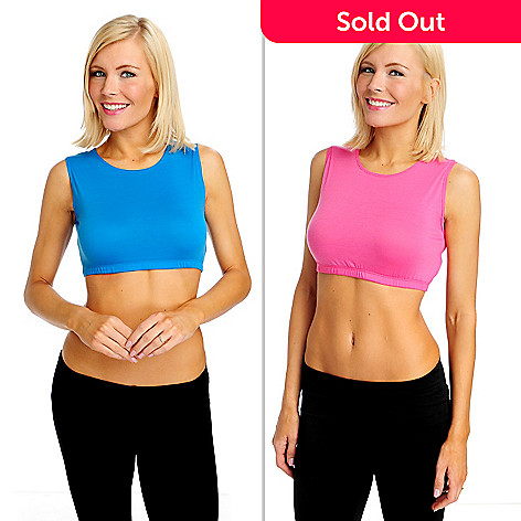 713-269 - Slim-A-Size Pack of Two Stretch Knit Cropped Modest Tees