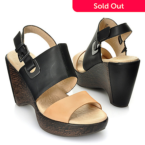 713-294 - Jambu Leather ''Gem'' Quarter Strap Wedge Sandals