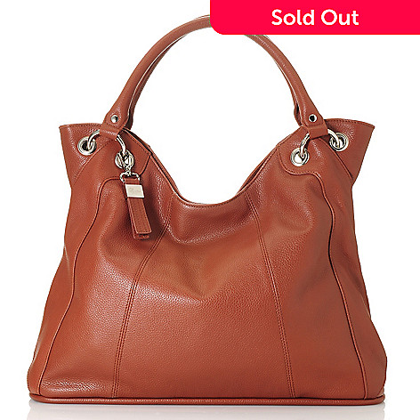 713-322 - Buxton Leather Double Handle Scoop Top Tote Bag