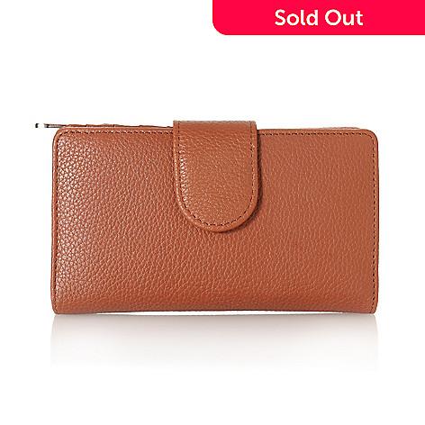 713-338 - Buxton Leather Medium Wallet w/ Identity Protect Lining