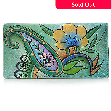 713-411 - Anuschka Hand-Painted Leather Slim Two-Fold Wallet