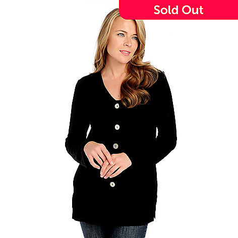 713-604 - Affinity for Knits™ Long Sleeved V-Neck Long Cardigan Sweater