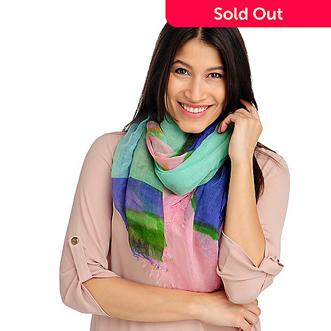713-624 - Collection XIIX Multi Color Fringed Edge Scarf