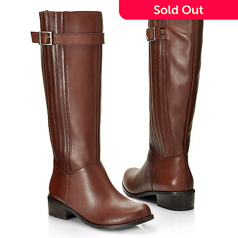 713-636 - Matisse Leather Buckle Detailed Side Zip Riding Boots