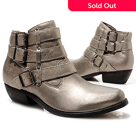 713-723 - Matisse Leather Triple Belt & Buckle Detailed Ankle Boots