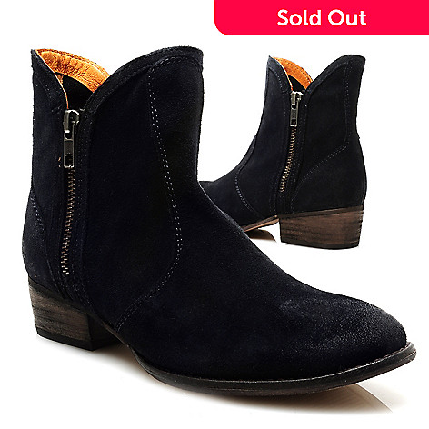 713-726 - Matisse® Suede Leather Double Zipper Ankle Boots