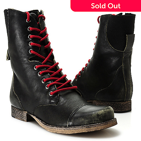 713-732 - Matisse Leather Side Zip Lace-up Boots