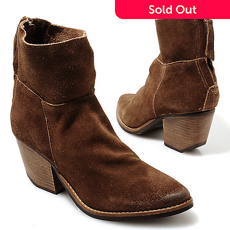 713-733 - Matisse Suede Leather Pointed Toe Short Boots