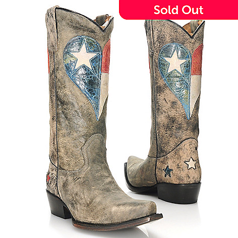 713-735 - Matisse Distressed Leather Western-Inspired Snip Toe Boots