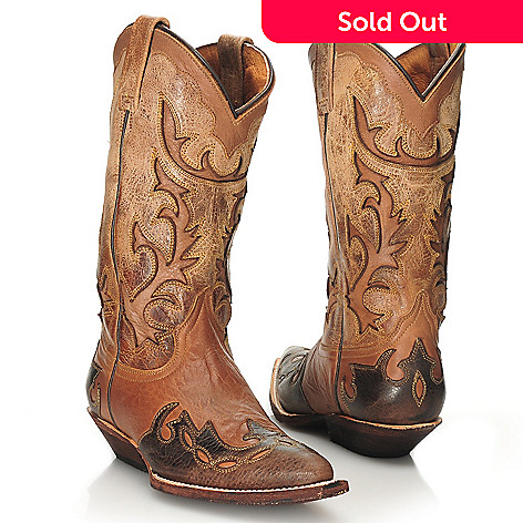 713-743 - Matisse Leather Cut-out Design Western Boots