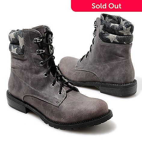 713-749 - Matisse ''Lumberjack'' Lace-up Star Collar Hiking-Inspired Boots