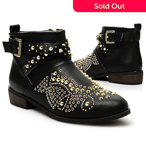 713-750 - Matisse Studded Side Zip Short Boots