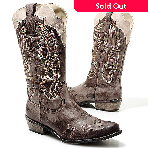 713-751 - Matisse Two-tone Western-Inspired Boots