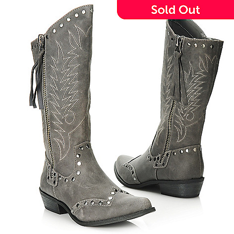 713-752 - Matisse® Stud Accented Western-Inspired High-Low Boots