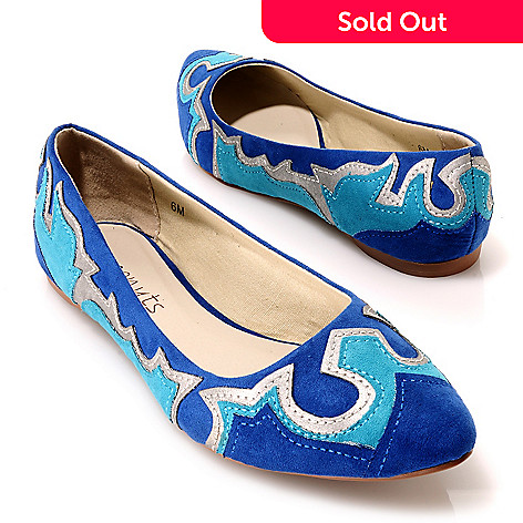 713-755 - Matisse Appliqué Detailed Pointed Toe Ballet Flats