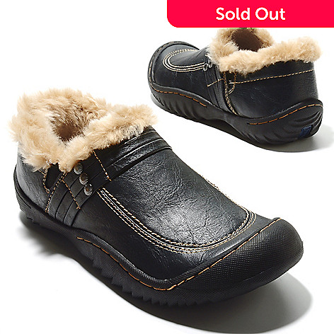 713-766 - Jambu ''Lenox'' Faux Fur Lined Memory Foam Slip-on Clogs