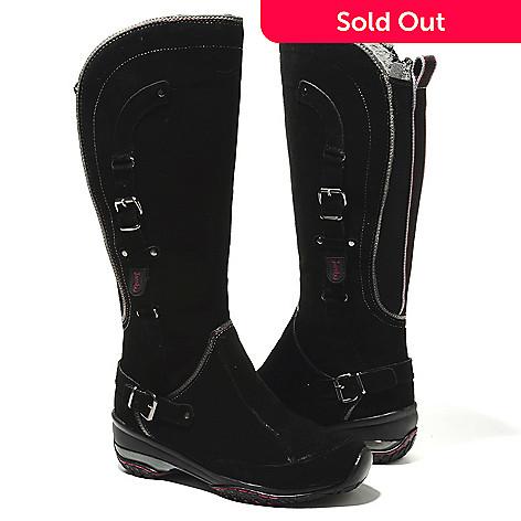 713-774 - Jambu Leather Suede Memory Foam Side Zip Knee-High Boots
