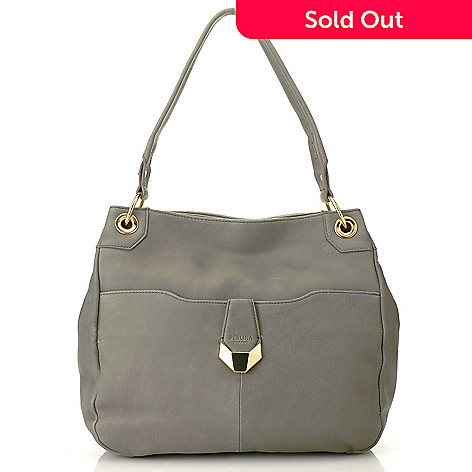713-792 - Perlina New York Natural Leather Dual Compartment Bucket Bag