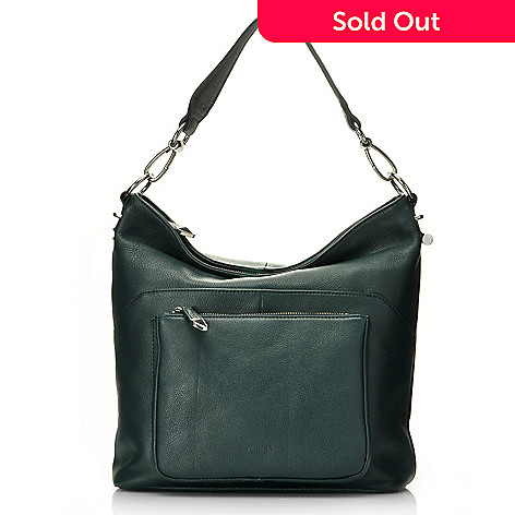 713-794 - Perlina New York Pebbled Leather Zip Top Bucket Bag