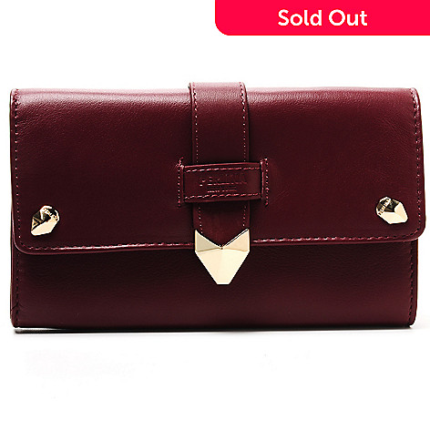 713-798 - Perlina New York Napa Leather Flap-Over Wallet
