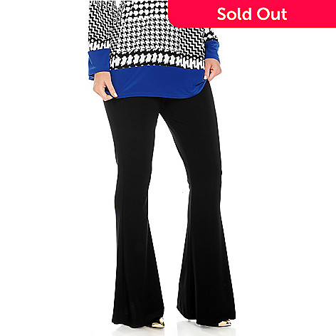 713-806 - Kate & Mallory® Stretch Knit Elastic Waist Flared Leg Pants