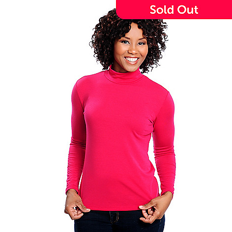 713-873 - OSO Casuals™ Stretch Knit Long Sleeved Mock Turtleneck Shirt