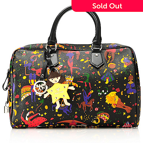 713-880 - Piero Guidi Soft Coated Canvas Magic Circus Collection Double Handle Satchel