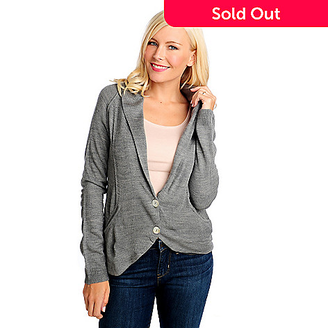 713-898 - Kate & Mallory Sweater Knit Long Sleeved Two-Pocket Blazer