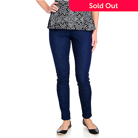 714-247 - Kate & Mallory® Stretch Twill Ankle Length Elastic Waist Jean Leggings