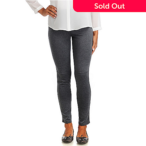 714-249 - Kate & Mallory® Lightweight Ponte French Seam Zip Ankle Leggings