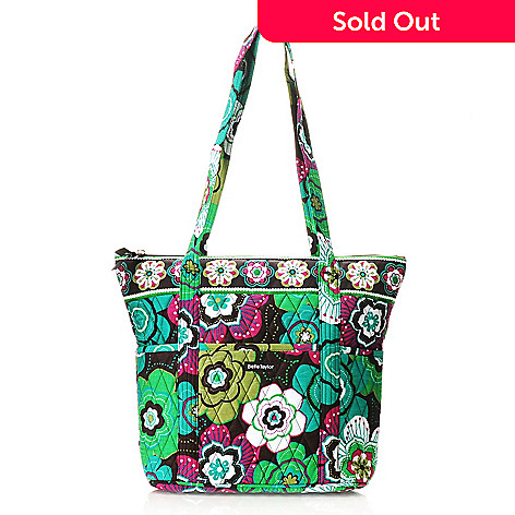 714-254 - Bella Taylor Quilted Cotton Pattern Print North/South Shopper Handbag