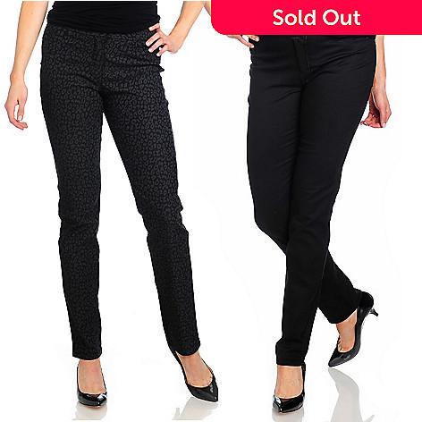 714-329 - OSO Casuals® Stretch Twill Animal Print Reversible Slim Leg Pants