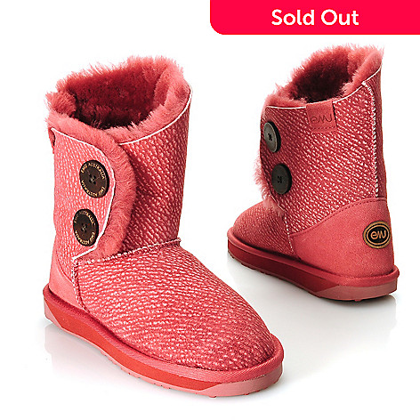 714-526 - EMU® Textured Sheepskin Side Button Short Boots