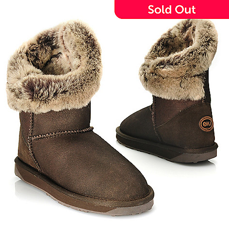 714-528 - EMU Textured Sheepskin Cuffed Short Boots