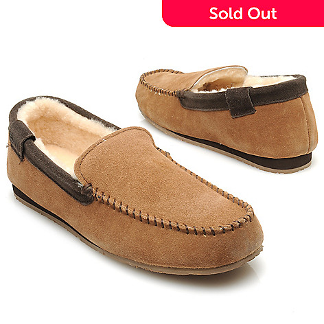 714-531 - EMU Men's Suede Leather & Sheepskin Lined Loafer-Style Slippers