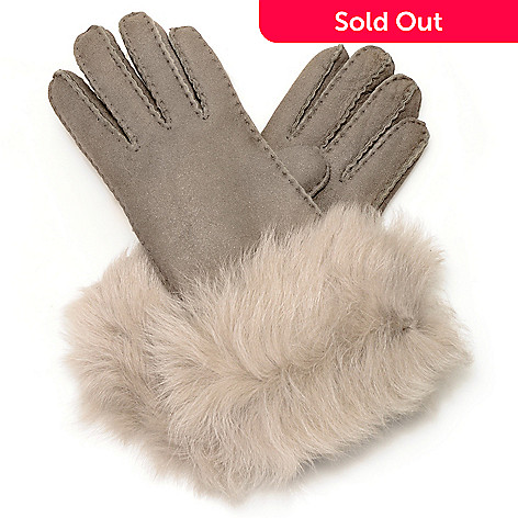 714-534 - EMU Women's 100% Sheepskin Long Fur Cuffed Gloves