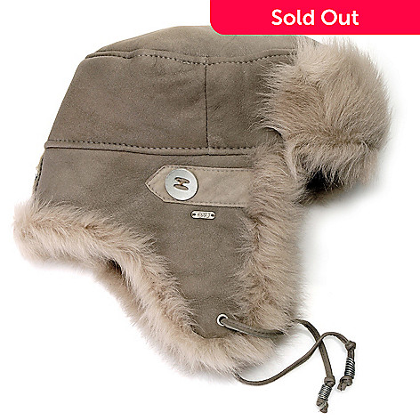 714-535 - EMU 100% Sheepskin Fur Trimmed Trapper Hat