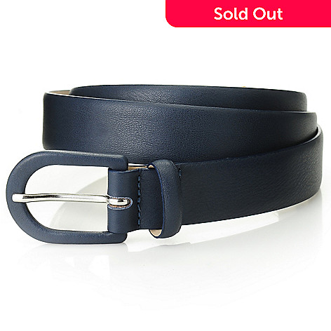 714-623 - Brooks Brothers Leather Covered Buckle Belt