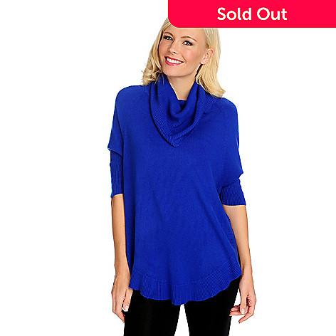 714-852 - Kate & Mallory® Soft Knit Cowl Neck Shirttail Hem Tunic Sweater