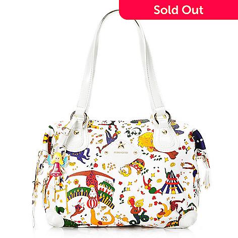 714-994 - Piero Guidi Soft Coated Canvas & Patent Magic Circus Collection Zip Top Tote Bag