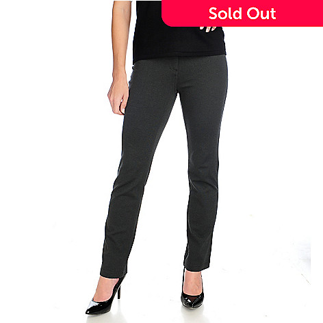 715-005 - Kate & Mallory® Ponte Knit Three-Pocket Straight Leg Pants